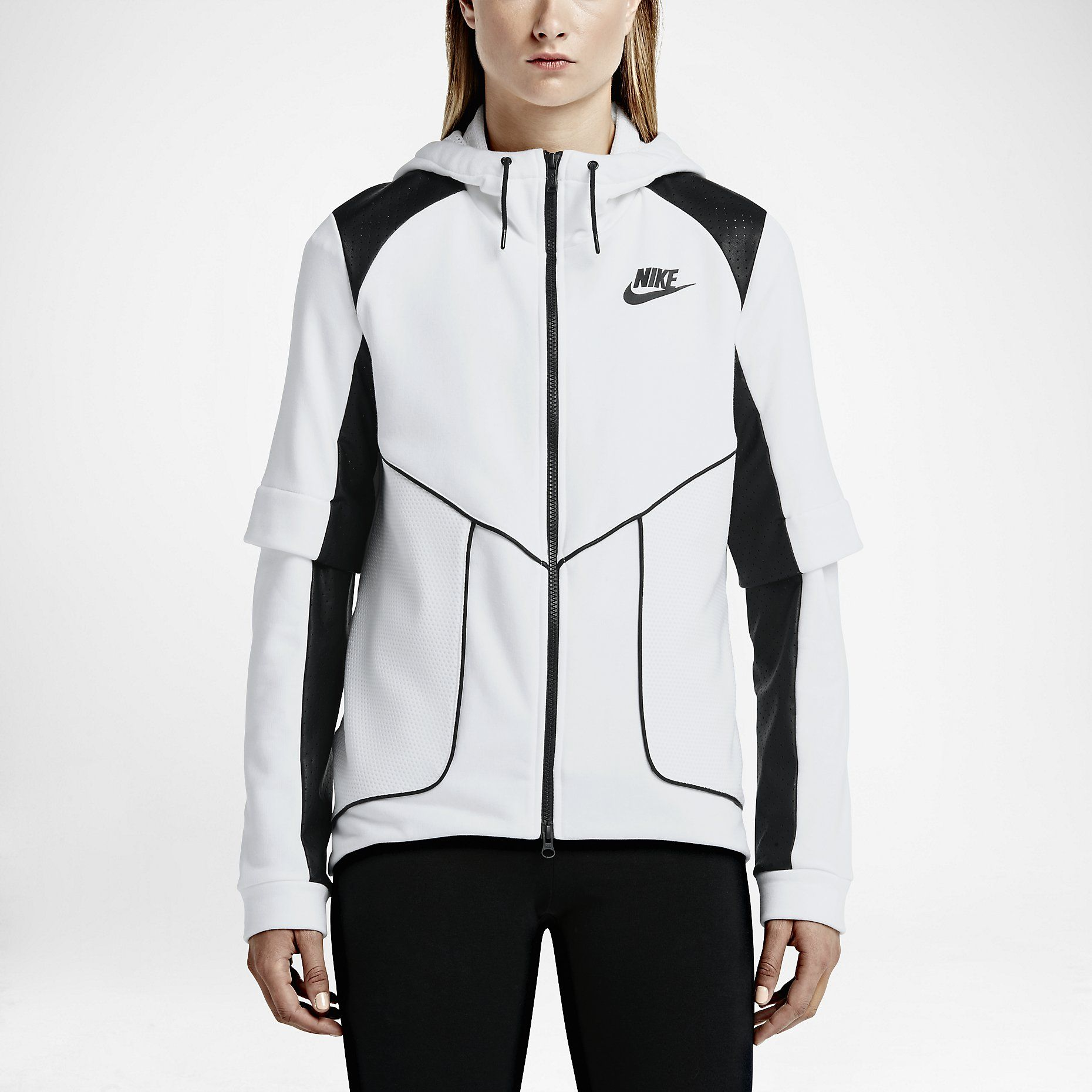 Nike Perforated Full Zip Women's Hoodie. Nike Store | Nike
