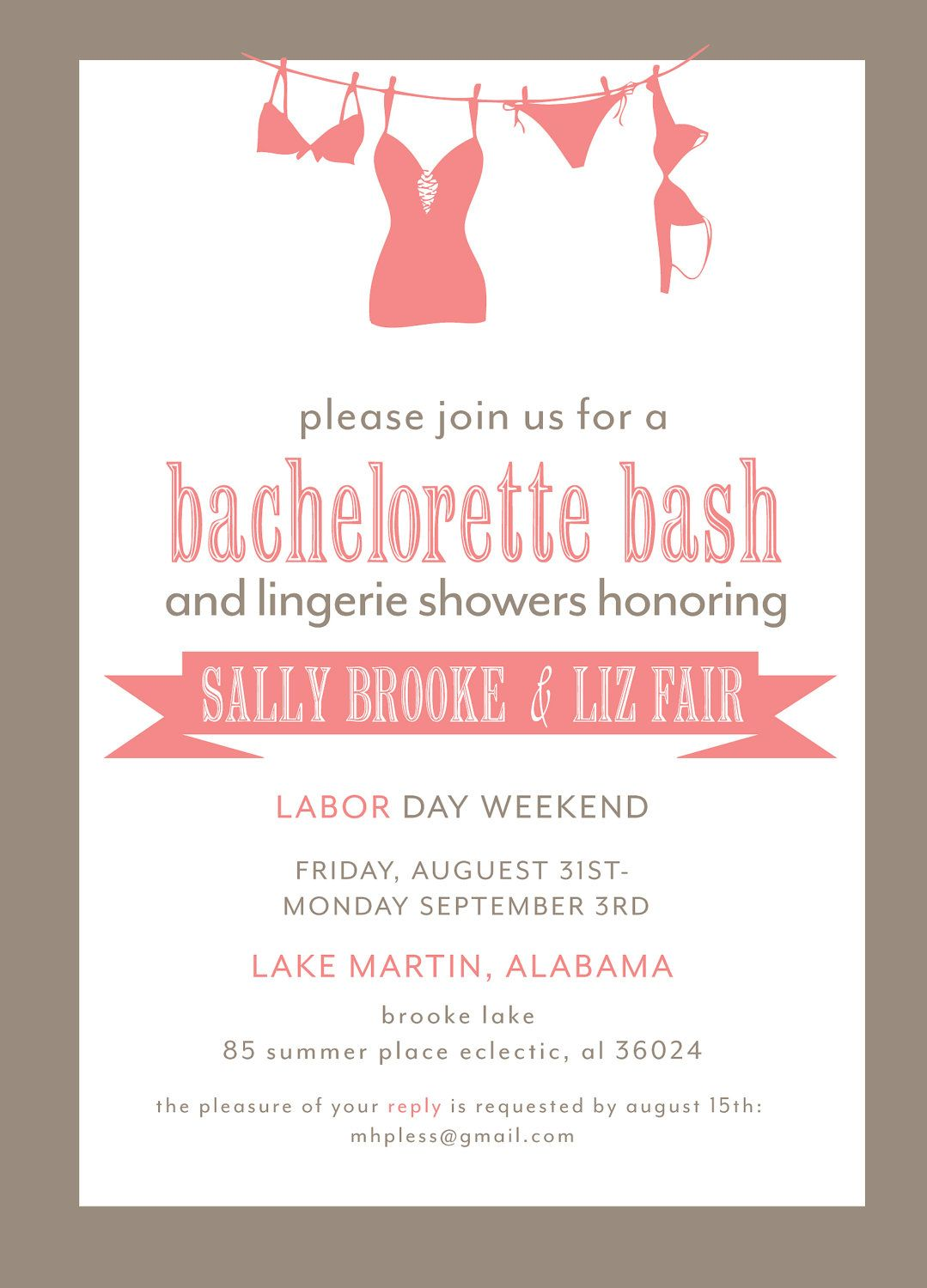 Bachelorette Party Invitation Printable File by camaddisondesigns ...