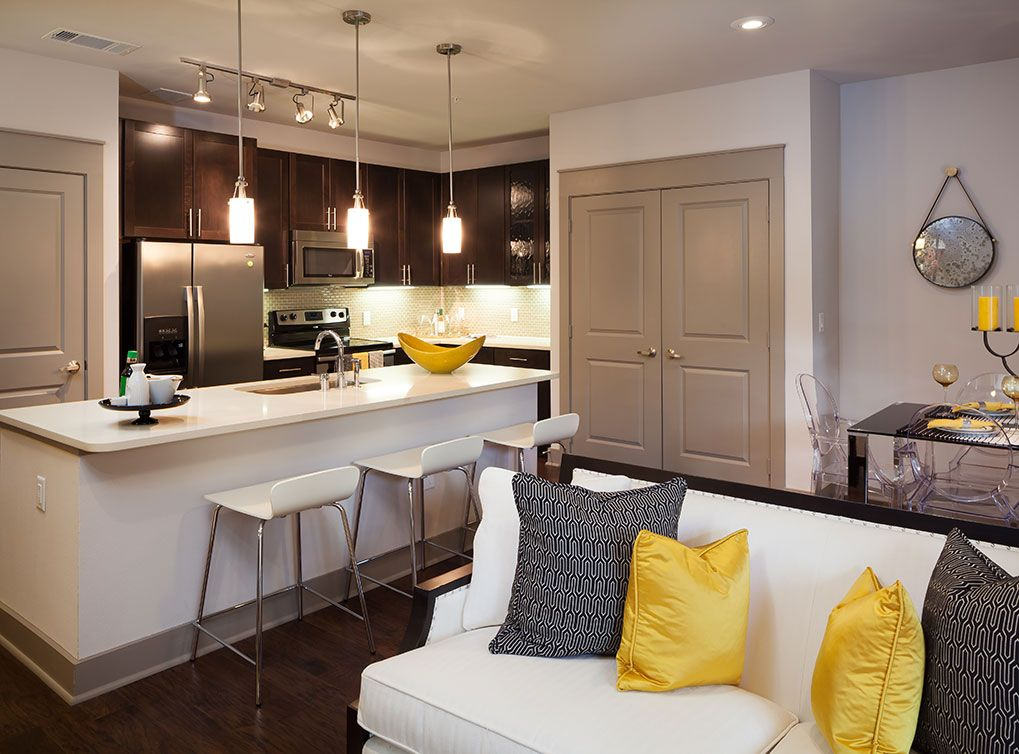 Model apartment at AMLI on Maple, luxury apartments in