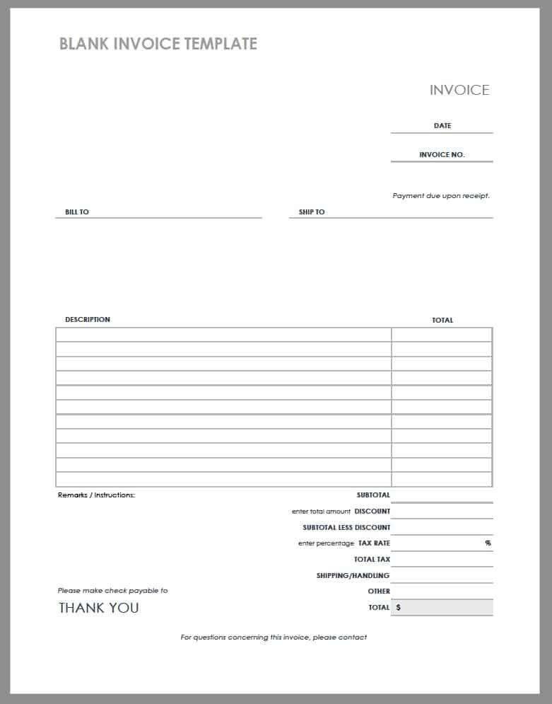Free Printable Pdf Receipts Business Templates Invoice Template Invoice Template Word Receipt Template