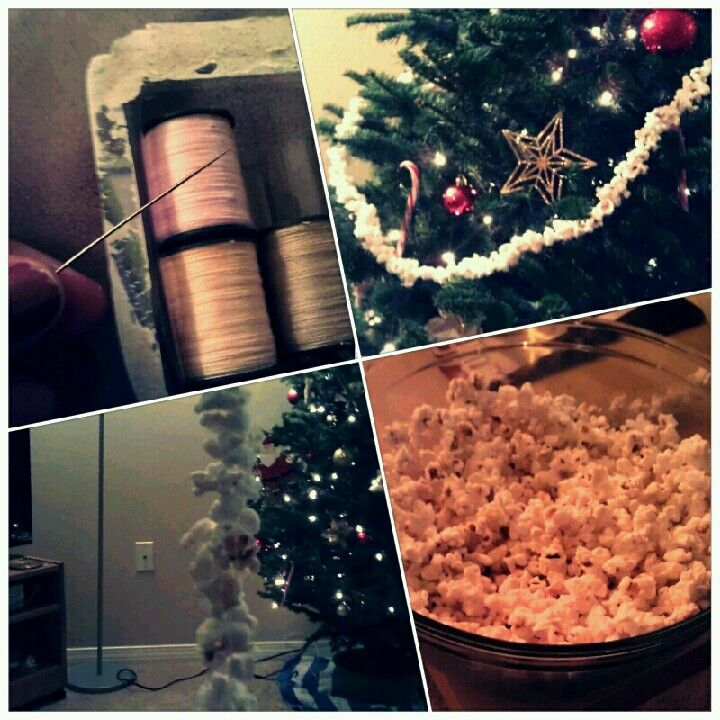 Diy christmas popcorn garland