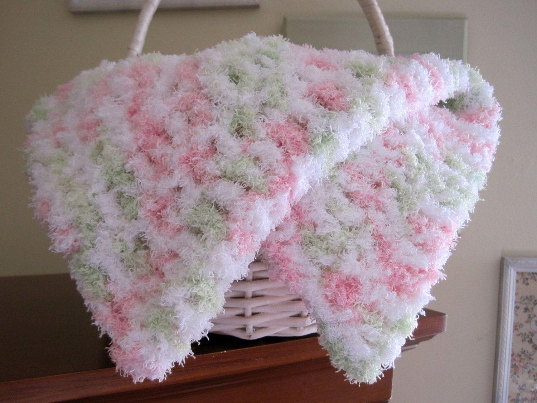 Baby Girl Blanket, Crochet Baby Blanket, Baby Prop Blanket ...