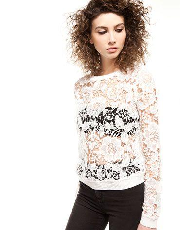 Bershka Croatia -Bershka lace jumper Mexico Jersey b8e727544