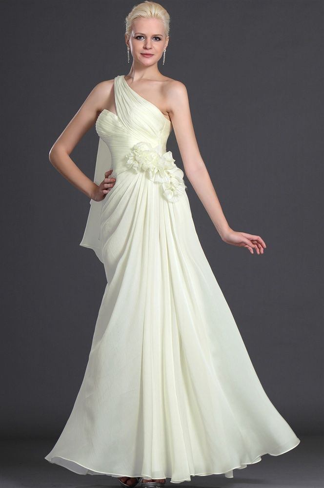 O Whole Dropship Chiffon Pleated One Shoulder Sleeveless Floor Length A Line Evening Prom Dresses 75 28