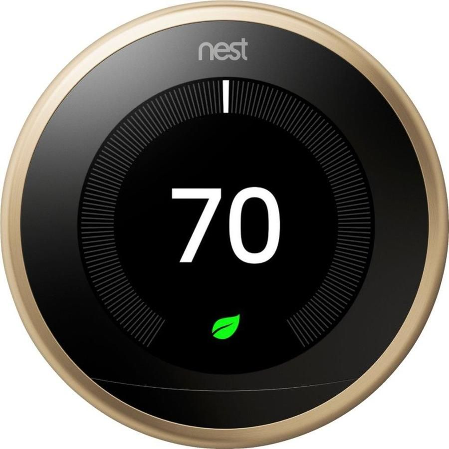 Google Nest Brass Thermostat With Wi Fi Compatibility T3032us In