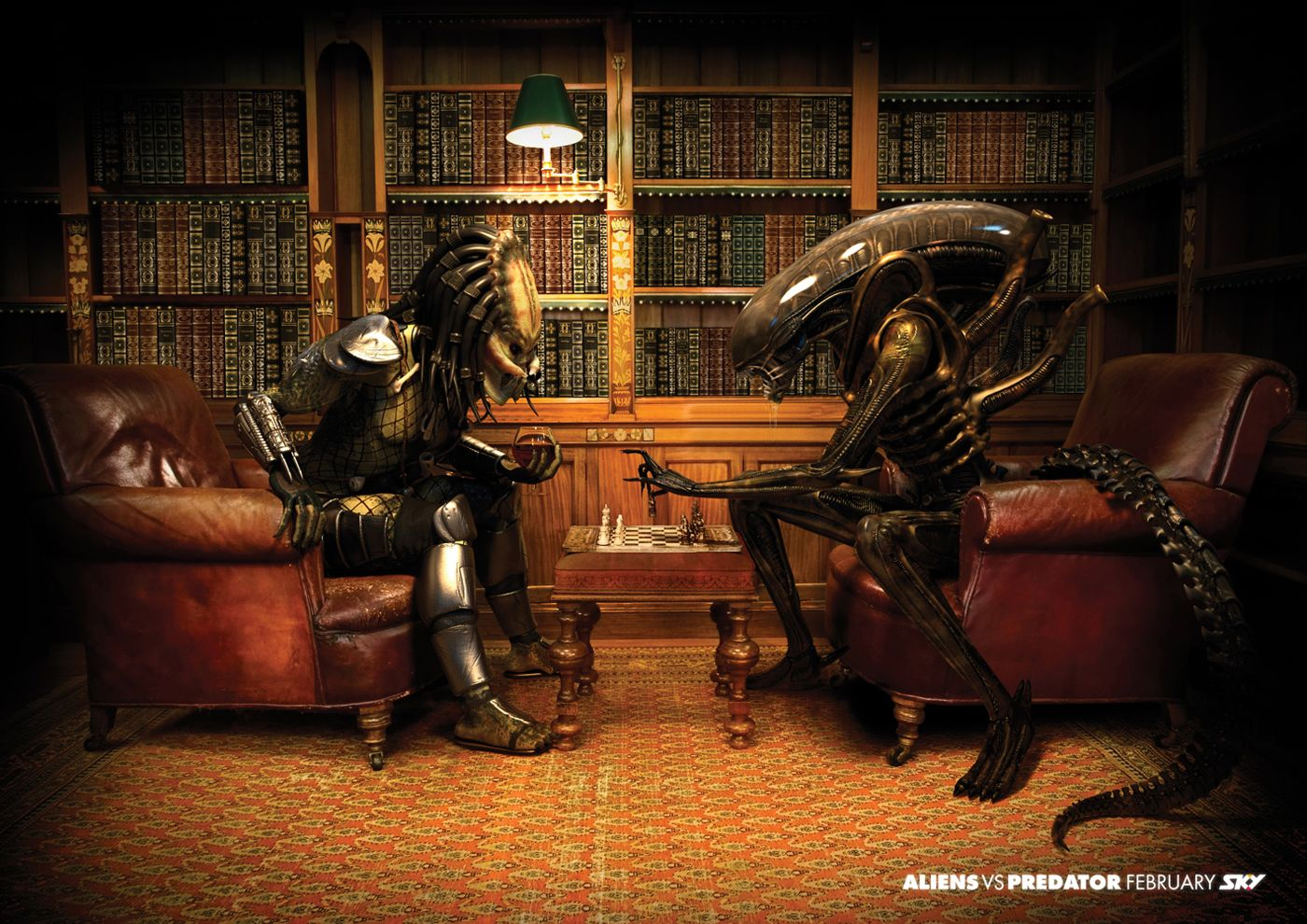 At this tattoo parlor, Alien and Predator are actually pretty good ...