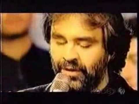 Andrea Bocelli Con Te Partiro Our Father Lyrics Beautiful Songs