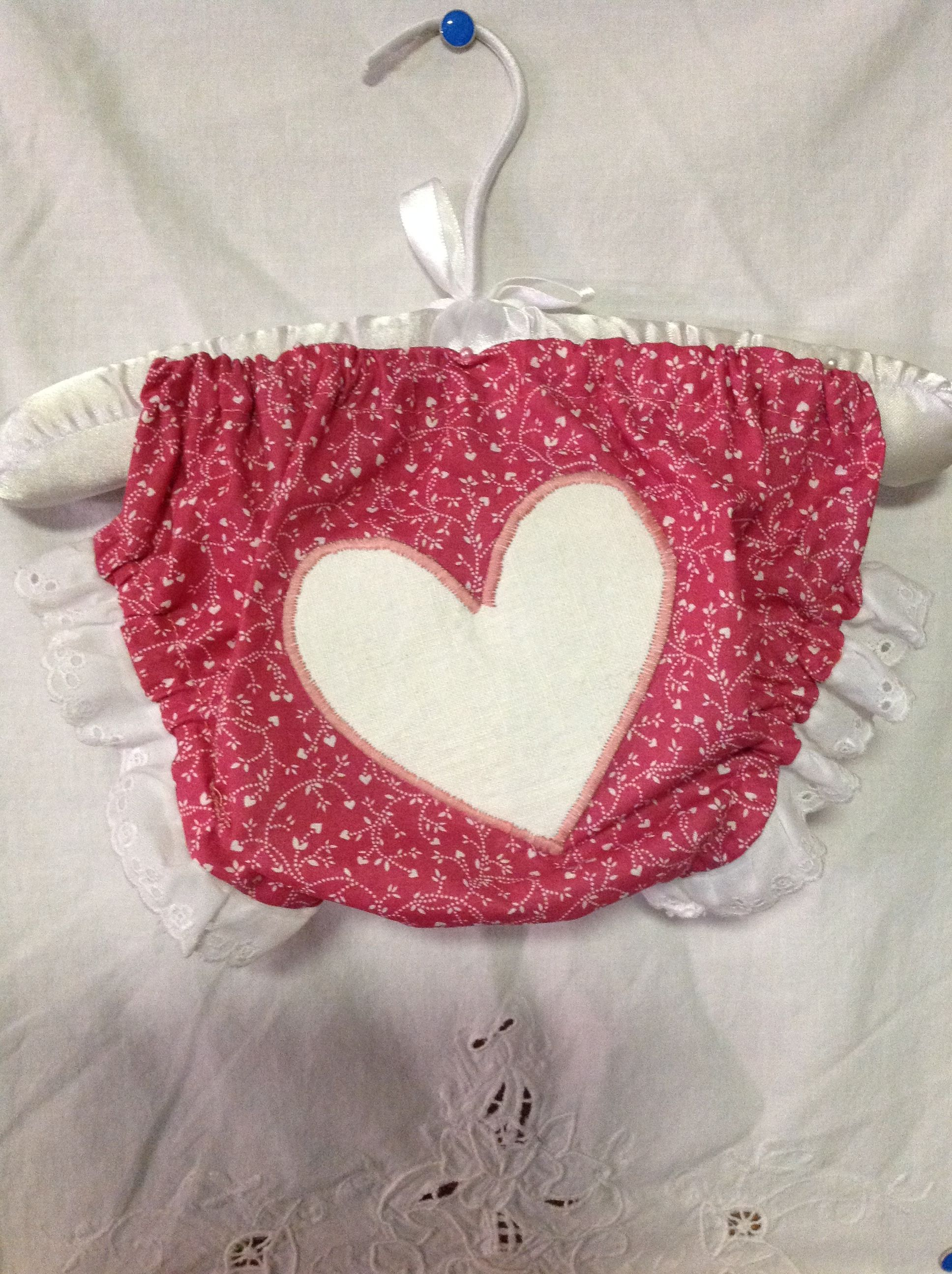 Hearts Aflutter Diaper Cover - 3-6mos. Made by me for my Etsy Shop.