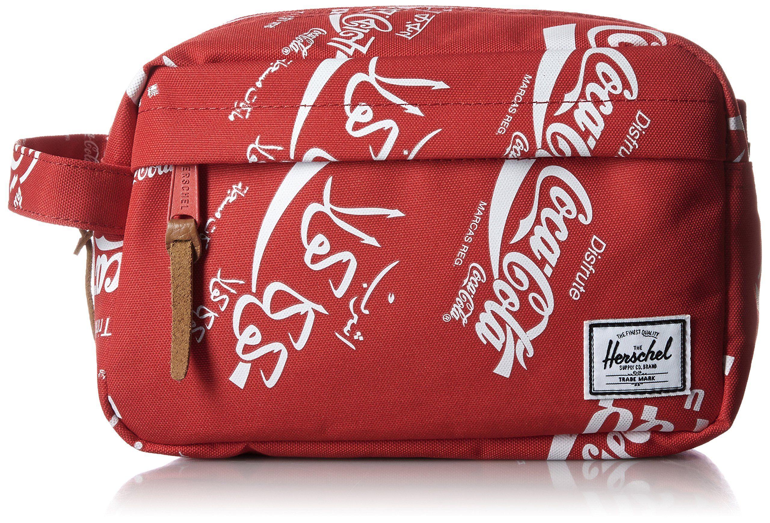Herschel Supply Co. Women's Coca Cola x Herschel Chapter Travel Kit, Red Coca-Cola, One Size