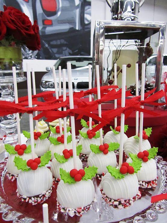 Christmas Cake Pops Desserts For X Mas Pinterest Kuchen