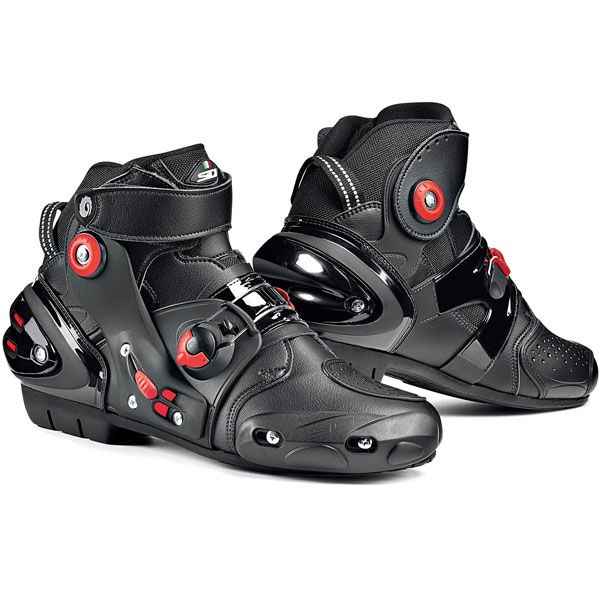 Sidi Streetburner Short Sports Motorcycle Boots At Motorcycle Megastore Bike Boots Racing Boots Leather Motorcycle Boots