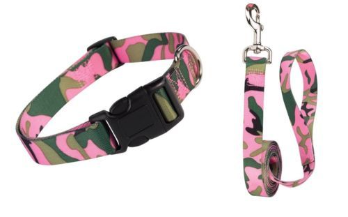 Camouflage Dog Collars  U0026 Leads Pink Green Durable Stlye