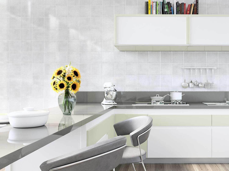Miguel Grey Wall Tile | CTM | Stylish Kitchens | Pinterest | Grey ...