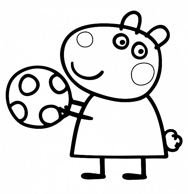 peppa pig coloring pages birthday balloon | Pin by Shreya Thakur on Free Coloring Pages | Peppa pig ...