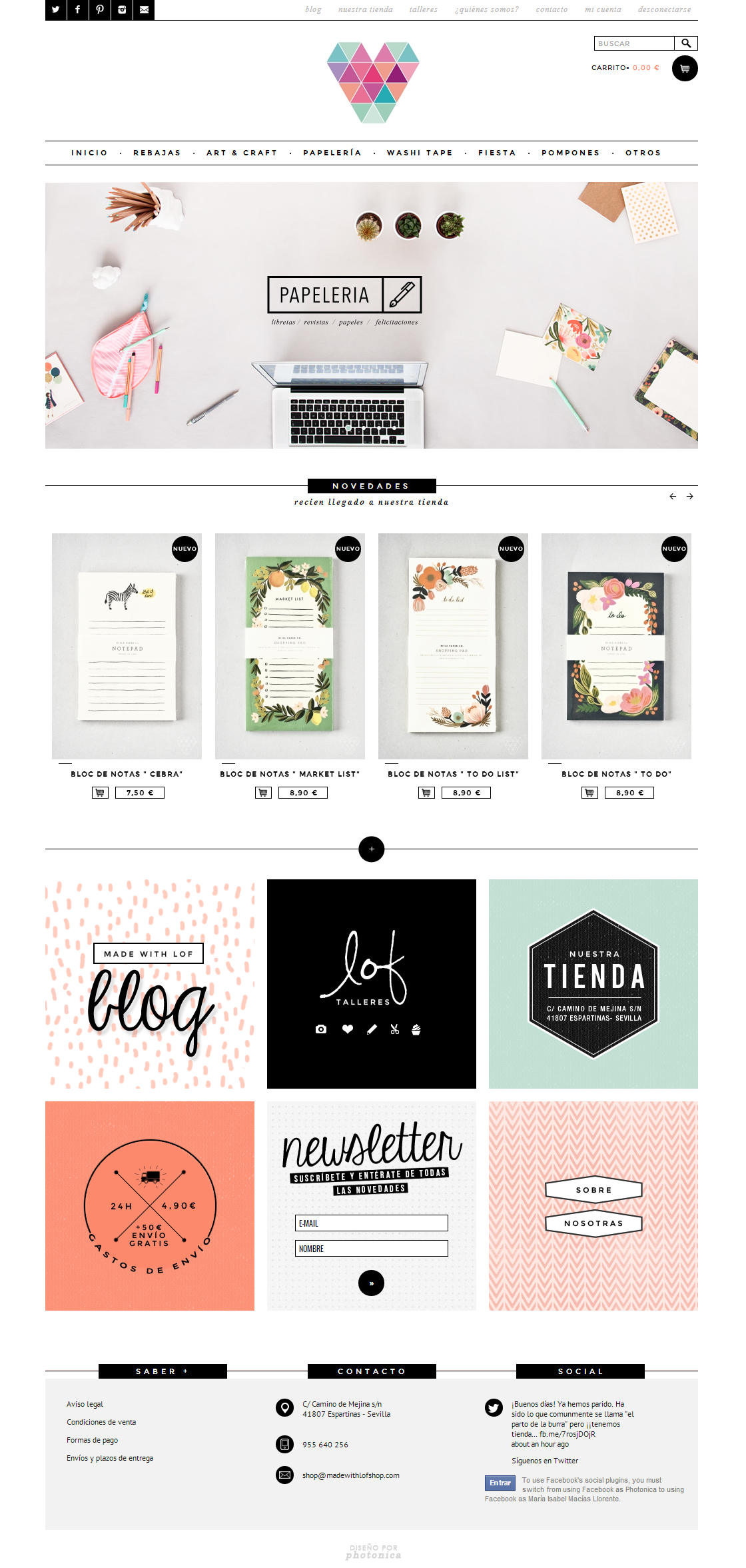 Online shop I love this layout, needs