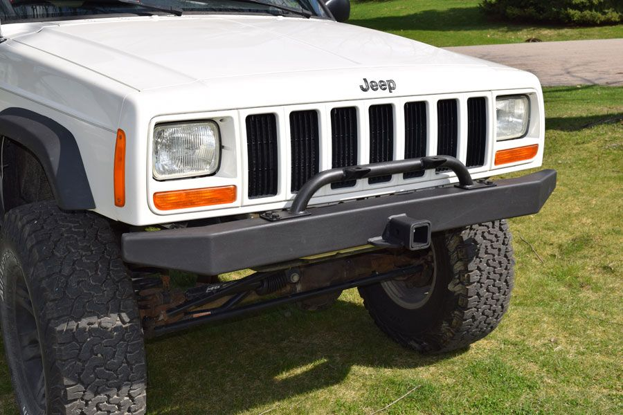 Jeep Cherokee Xj Front Rock Bumper W Hitch Jeep Bumpers Jeep
