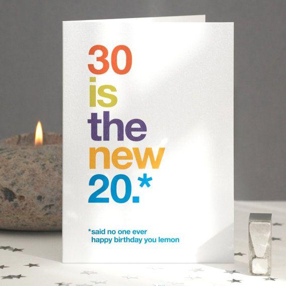 Funny 30th Birthday Card Sarcastic 30th Card Funny 30th Card Birthday 30 30 Card Witty 30th Birthday Quote Free Uk Delivery 30th Birthday Cards Funny 30th Birthday Cards 80th Birthday Cards