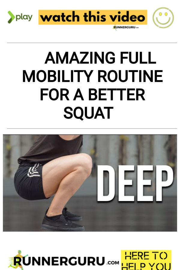 Amazing FULL MOBILITY ROUTINE for a better SQUAT | RunnerGuru