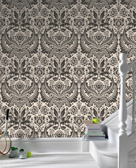 I love large printed wallpaper graham brown desire damask wallpaper eclectic wallpaper