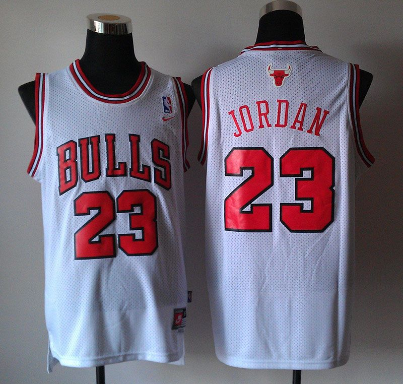 white bulls jordan jersey