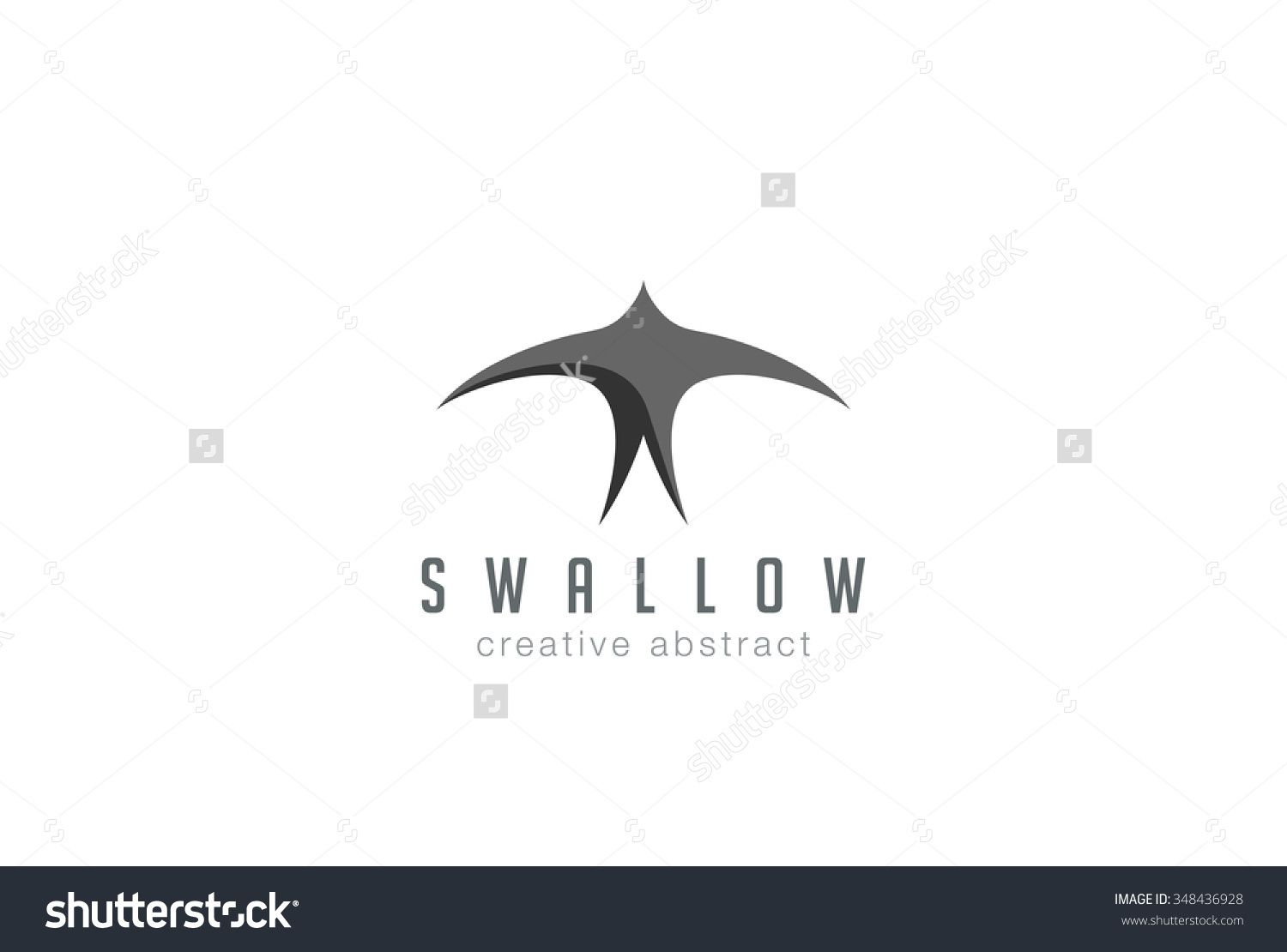 swallow logo abstract design vector template black flying bird bird logo design abstract design bird logos pinterest