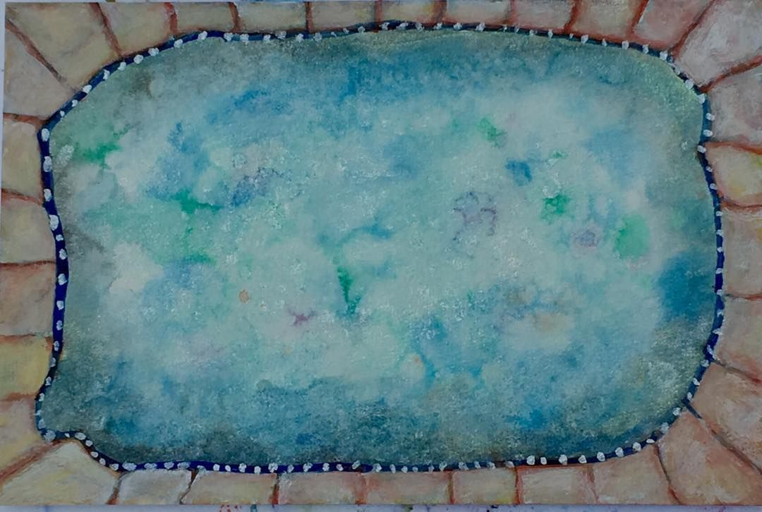 Mary Ann Coonrod On Instagram Pool 30 Watercolors 6 By 9 2018