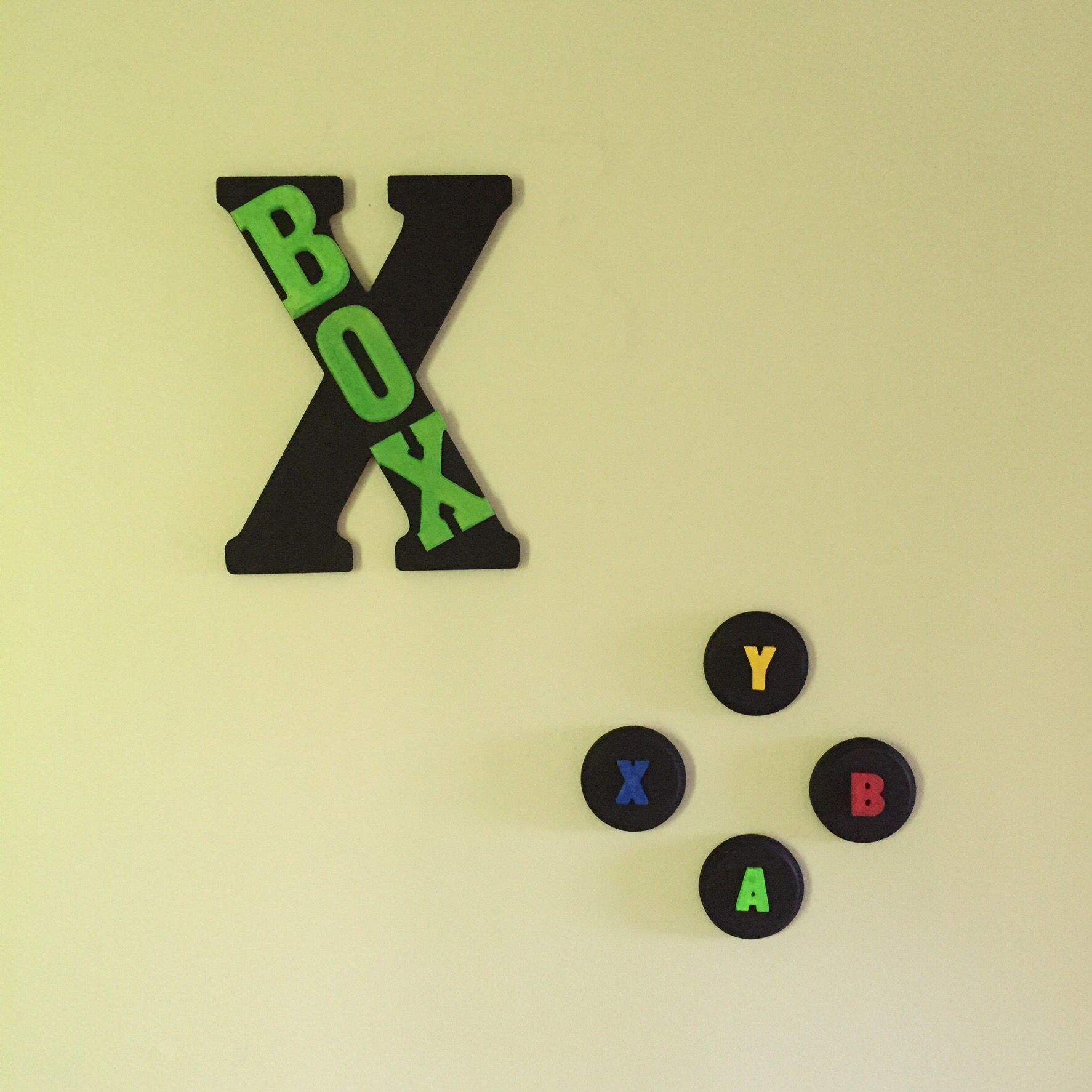 These are the two mounted on the wall. | Game room idea | Pinterest ...