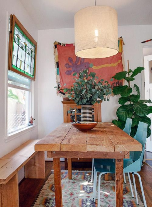 Perfect Bohemian Dining Room | @theluxeboheme
