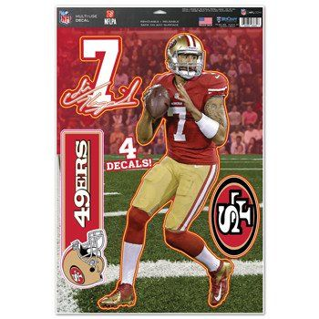 Team Color 11x17 WinCraft NFL San Francisco 49ers Colin Kaepernick Multi-Use Decal Sheet
