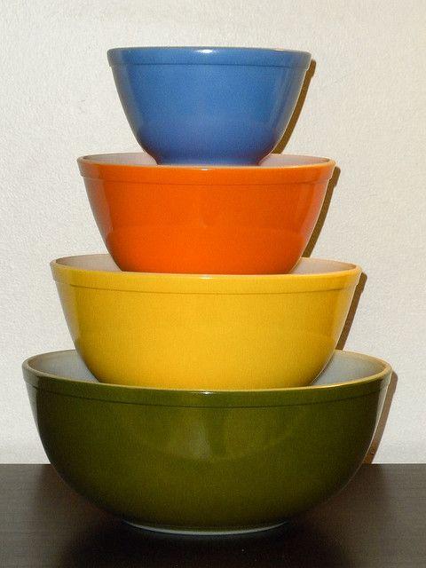 Rare Primary/Multicolor Pyrex Mixing Bowl Set | Pyrex, Mixing bowls ...