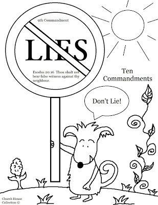 Commandment Page Ten Coloring Sheets   Collection Blog: Thou Shalt ...