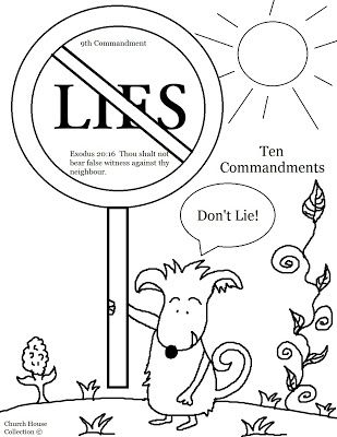 Thou Shalt Not Lie Coloring Page For Ten Commandments Thou Shalt