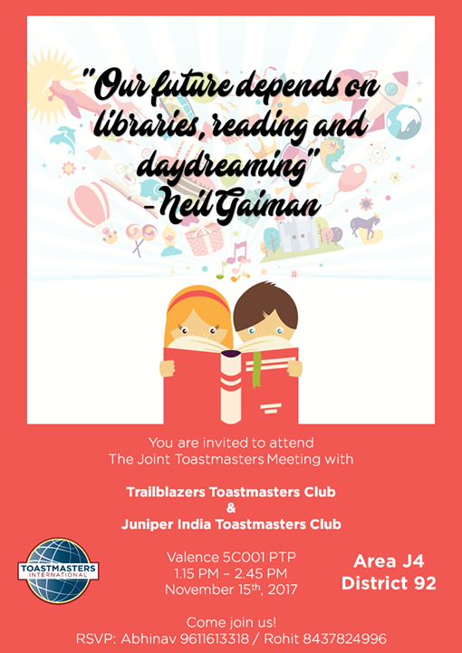 You are welcome to attend a Linkers Toastmasters Meeting