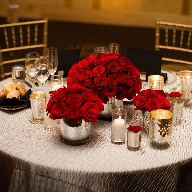 Red Wedding Ideas Reception: Real Weddings—A Black-Tie Seattle Wedding