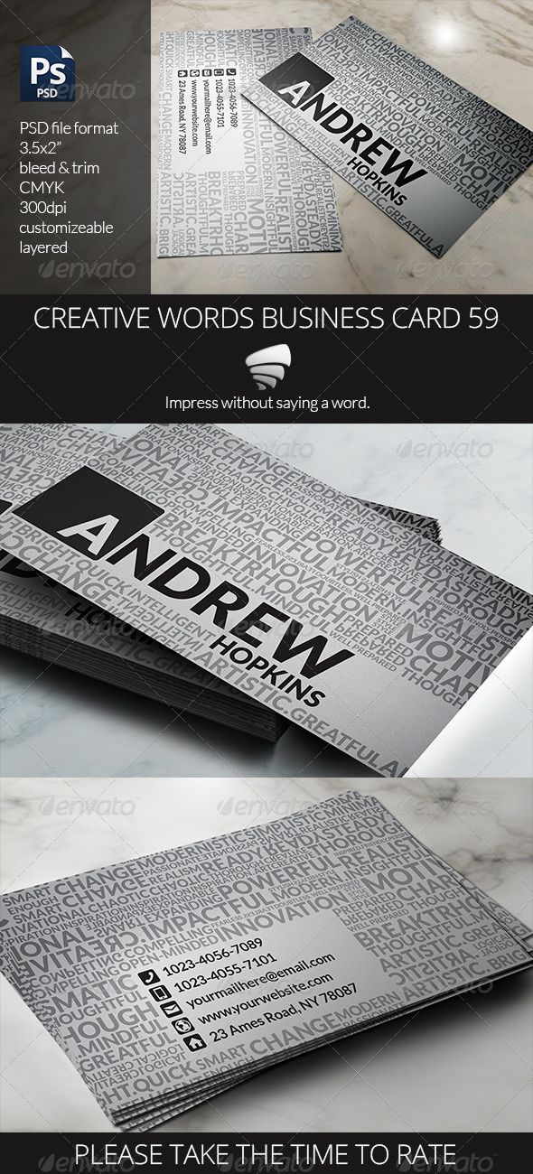 Creative words business card 59 creative words and business cards find this pin and more on fonts logos icons buy creative words business card reheart Images