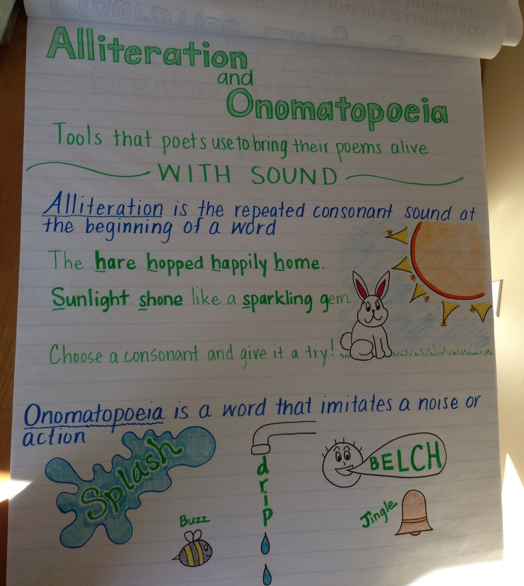 Alliteration And Onomatopoeia Cre Craft And Structure Rl 3 4