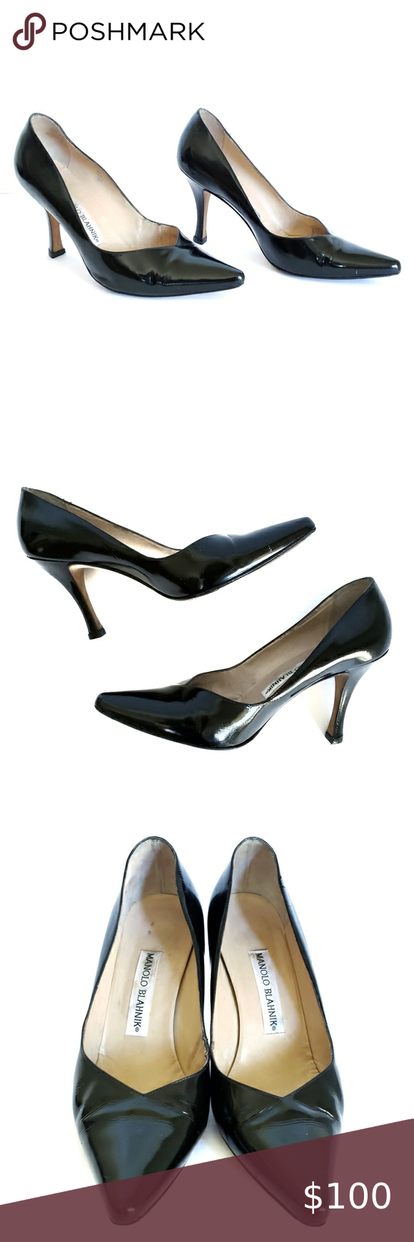 Women/'s High Heel Floral Print Patent Leather Pointed Shoes Pumps Classics US Sz