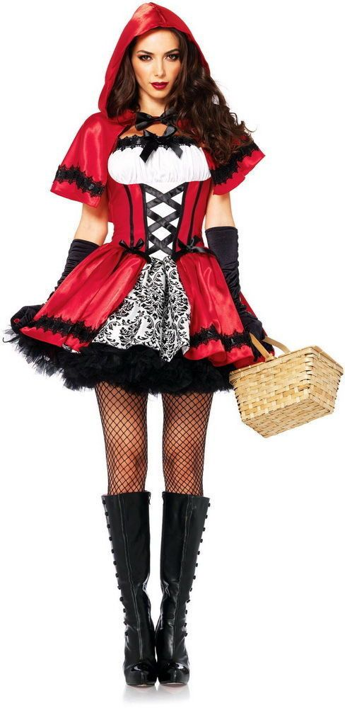 97f2bc4941 Details about Little Red Riding Hood Adult Dress Halloween Cosplay ...