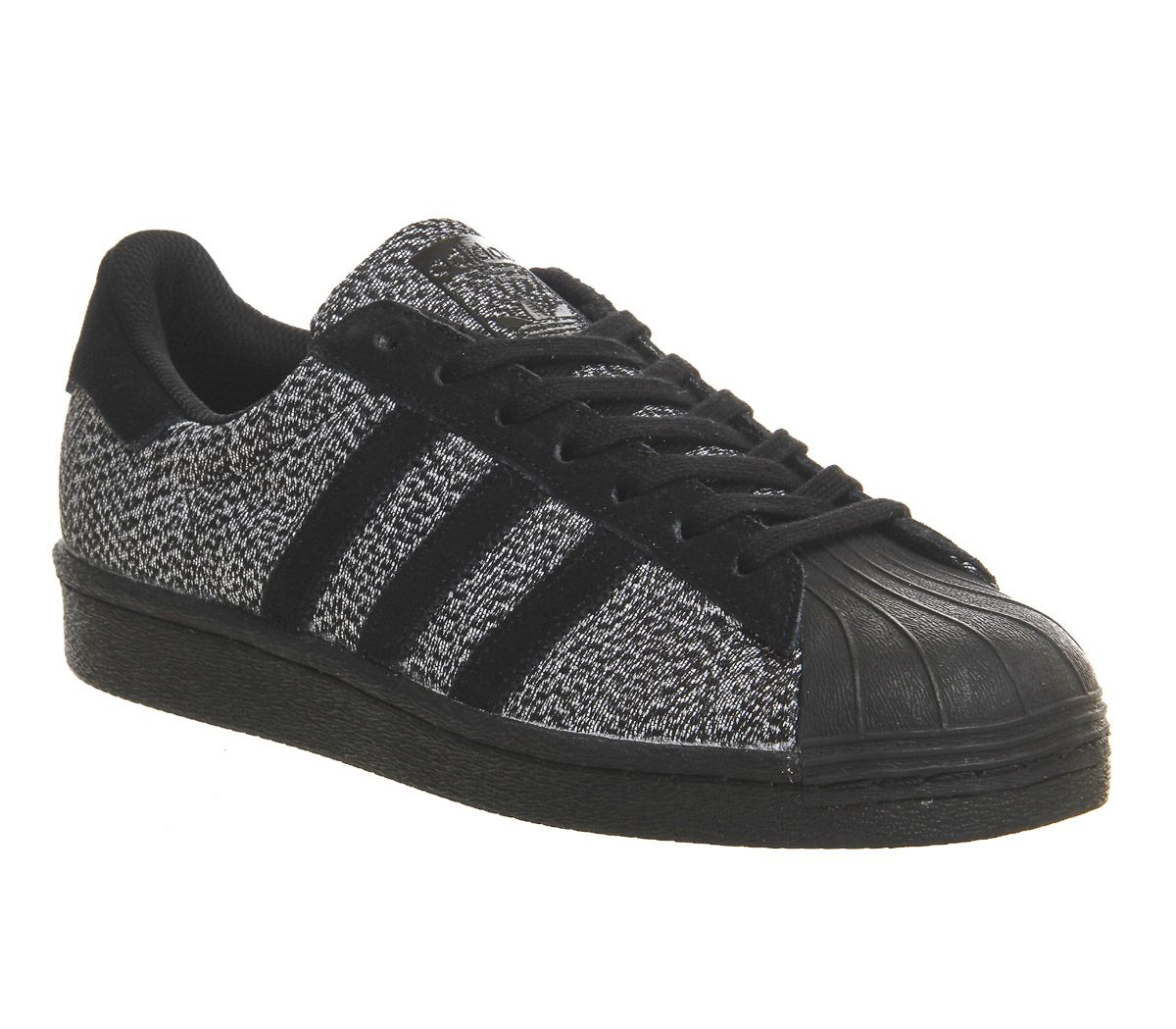 Buy Black White Black Knit Exclusive Adidas Superstar 1 from