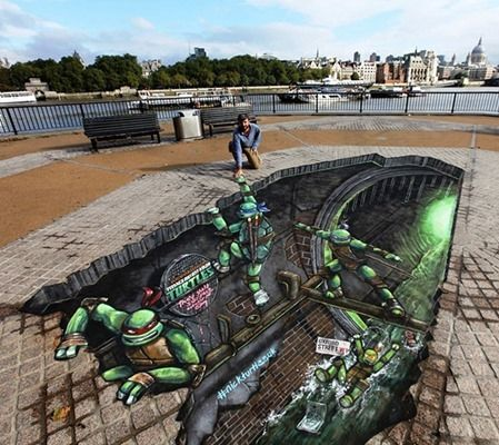 Street Chalk art | Mind Blowing 3D Chalk Art Created on Streets