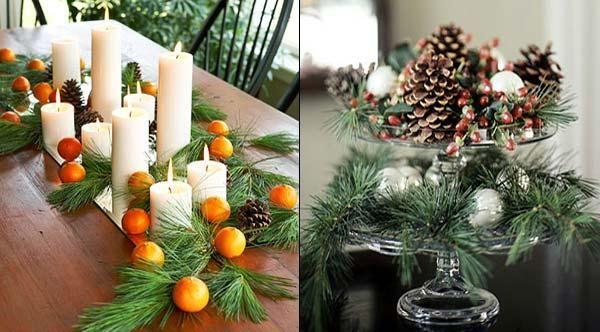 Creative Eco Friendly Christmas Decorating Ideas Green Orange Samodelnye Elochnye Igrushki Prazdnichnye Ukrasheniya Rozhdestvenskie Ukrasheniya Dlya Stola