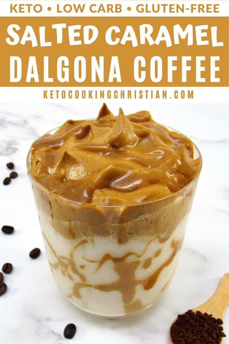 Keto Salted Caramel Dalgona Coffee Recipe in 2020