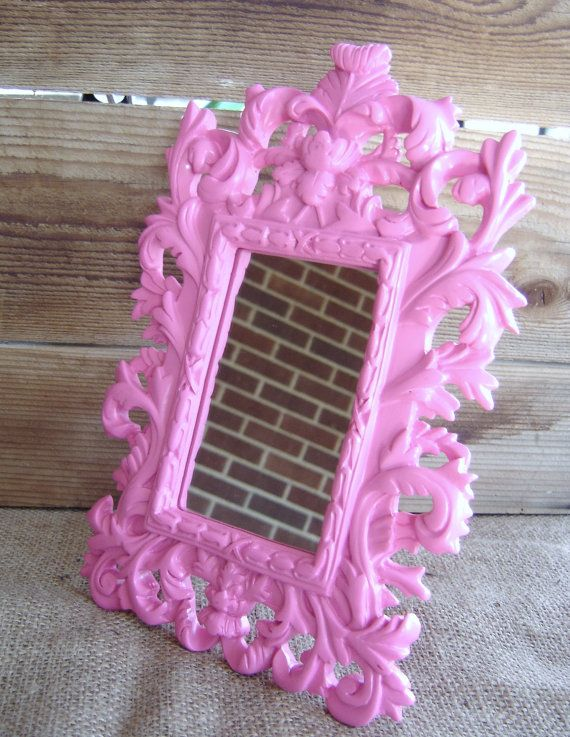 SALE  Pink Ornate Standing Mirror VALENTINES by Sparrowstation, $23.00