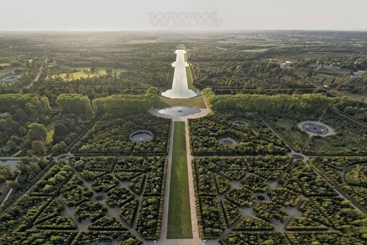 Wonderful Les Jardin De Versailles #14: VUE AERIENNE PERSPECTIVE JARDINS DE VERSAILLES ET GRAND CANALu0027