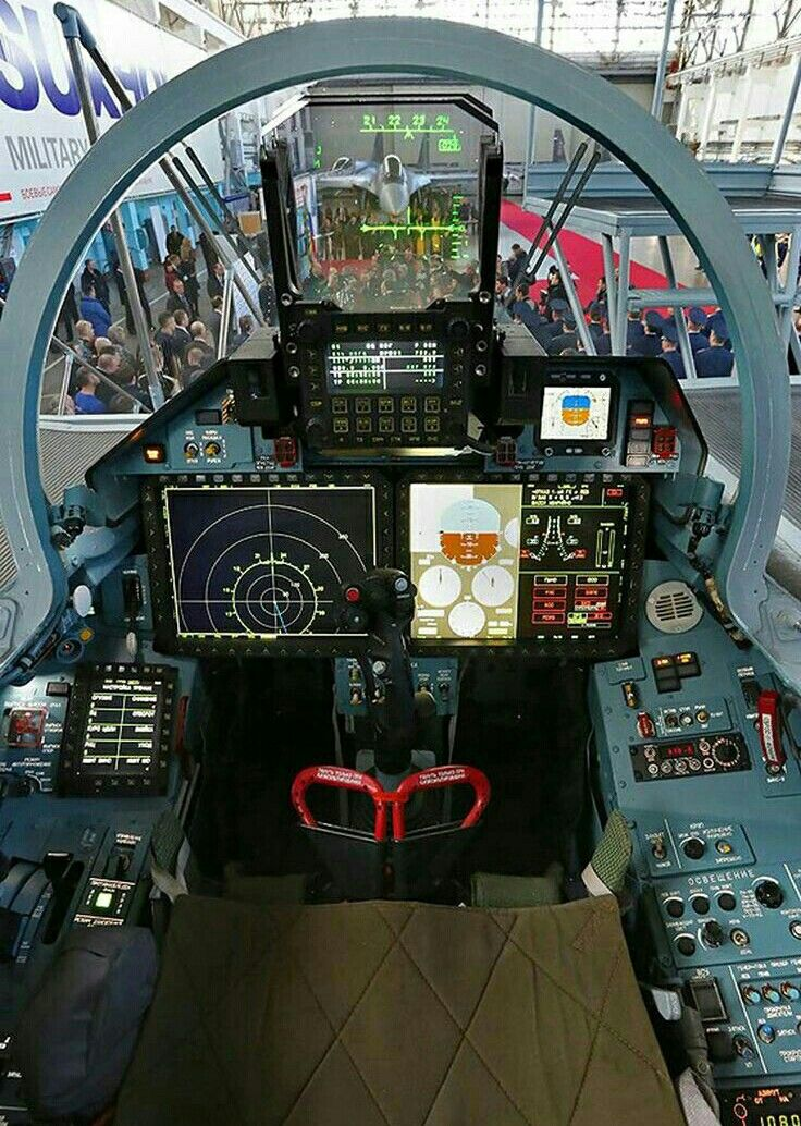 Sukhoi Fighter Cockpit Glass Cockpit Cockpit Fighter Aircraft
