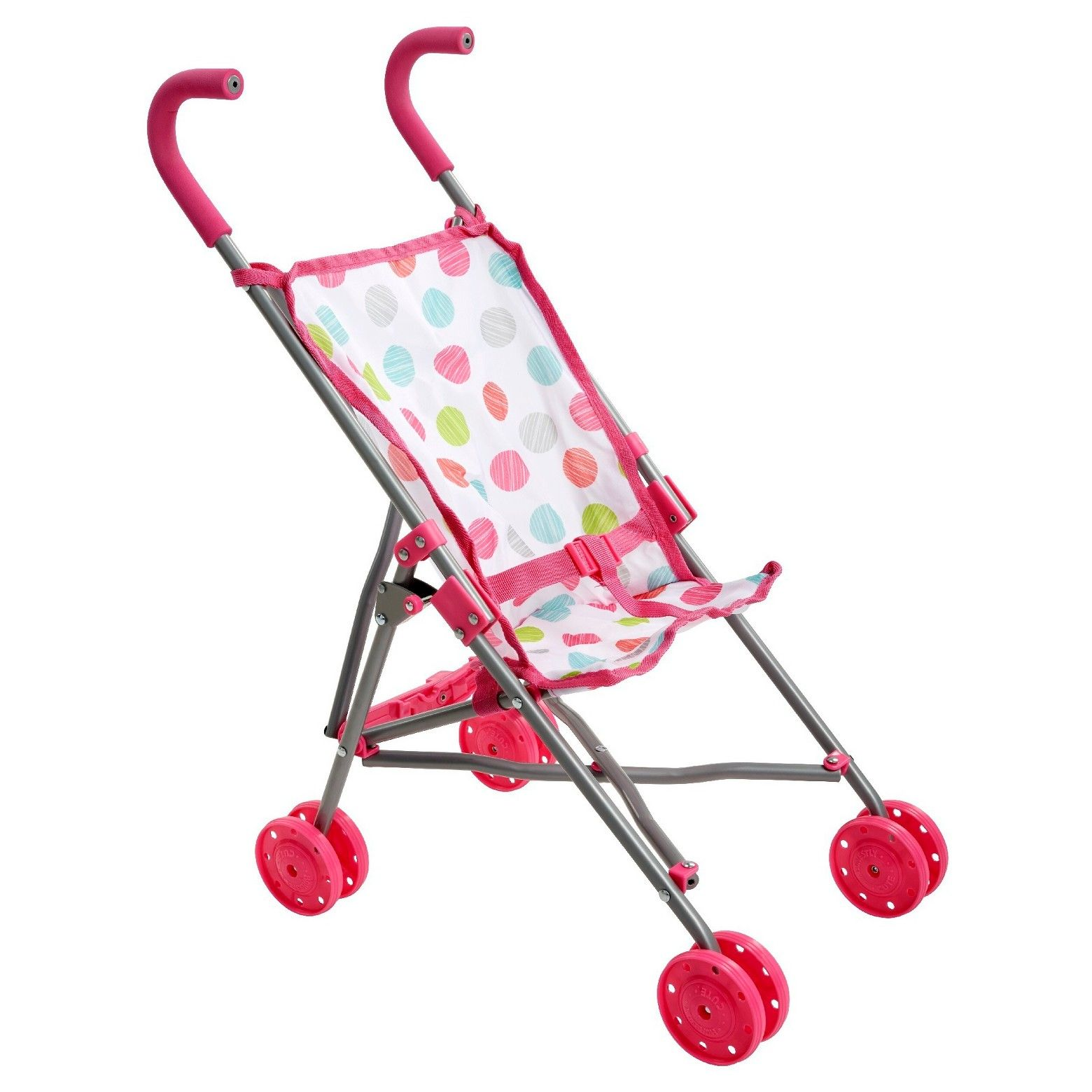 •This baby doll stroller can easily be cleaned with a damp