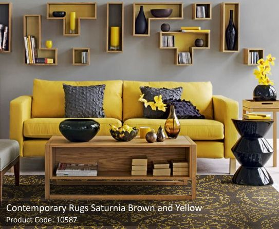 Grey Yellow Brown And Black Rooms Google Search With Images