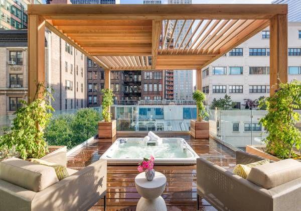 Pérgola En Roof Garden De Madera Con Vidrio Casas Rusticas