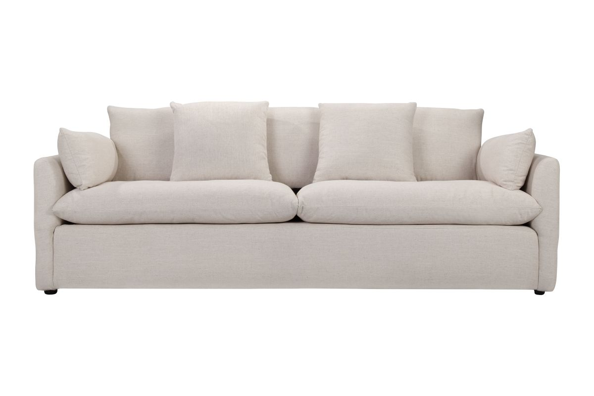 Cameron Sofa, White Linen | Living rooms, House and Houzz