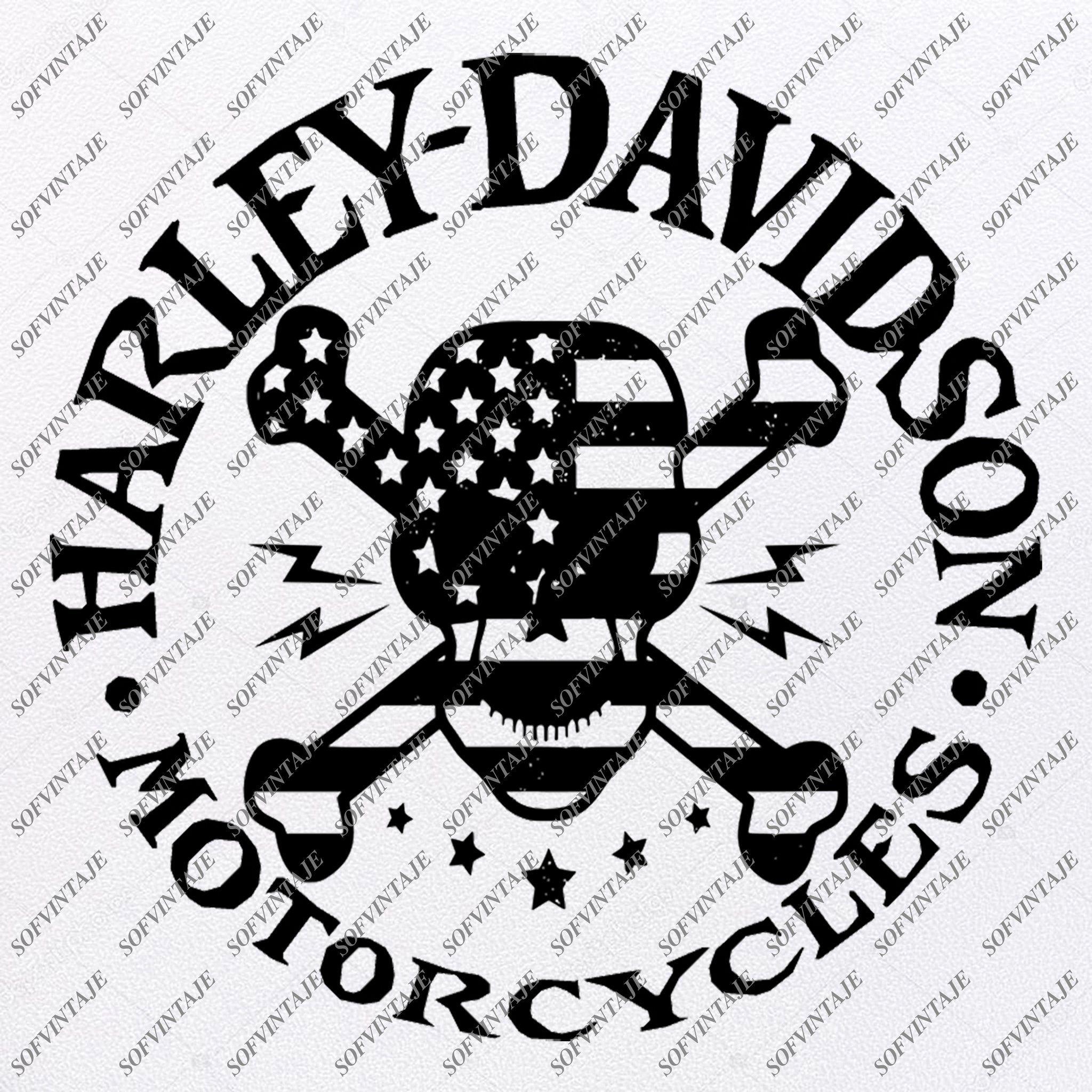 Harley Davidson Svg File Skull Harley Davidson Svg Design Clipart Tat Sofvintaje In 2020 Silhouette Svg Svg Design Motorcycle Harley